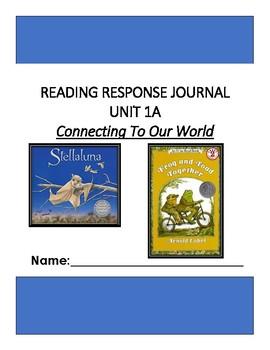 Ready Gen Unit 1 Module A Response to Reading Journal Grade 1