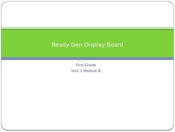 Ready Gen Unit 1 Module B Content Board Display