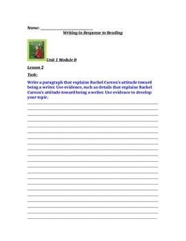 Ready Gen Unit 1 Module B Lesson 1-5 Worksheets