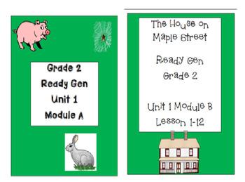 Ready Gen Unit 1 Worksheet Bundle 2nd Grade
