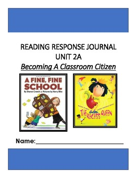 Ready Gen Unit 2 Module A Response to Reading Journal Grade 1