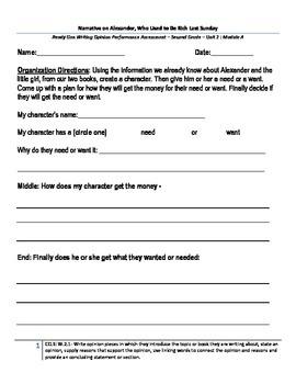 Ready Gen: Unit 2: Module A- Writing Assessment