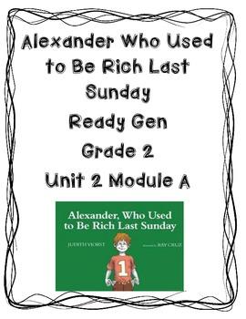 Ready Gen Worksheets Unit 2A Lessons 1-4 Gr. 2 Alexander