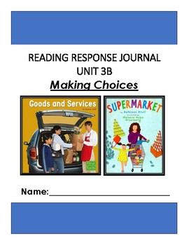 Ready Gen Unit 3 Module B Response to Reading Journal Grade 1