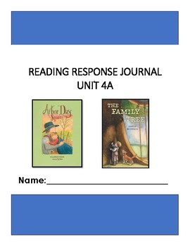 Ready Gen Unit 4 Module A Response to Reading Journal Grade 1