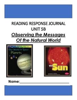 Ready Gen Unit 5 Module B Response to Reading Journal Grade 1