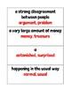 Ready Gen Unit 5 Module B Vocabulary Cards Second Grade