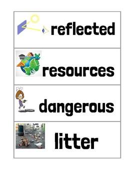 Ready Gen Unit 6 Module A Vocabulary Cards Second Grade
