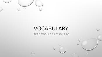 Ready Gen Vocab Grade 3 Unit 1 Module B Lessons 1-18 (Bundle)