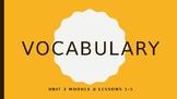 Ready Gen Vocab Grade 3 Unit 2 Module A Lessons 1-18 (Bundle)