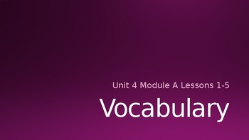 Ready Gen Vocab Grade 3 Unit 4 Module A Lessons 1-18 (Bundle)   Ready Gen Vocab