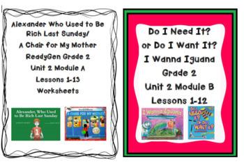 Ready Gen Unit 2 Worksheet Bundle 2nd Grade