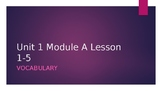 Ready Gen Grade 3 Vocab Vocabulary Unit 1 Module A lessons 1-5