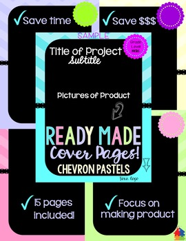 Ready Made Cover Pages - Chevron Pastels