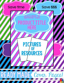 Ready Made Cover Pages - Diagonal Stripes