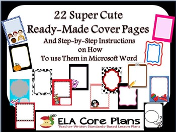 Ready Made Cover Pages and How to Use Them In Microsoft Word