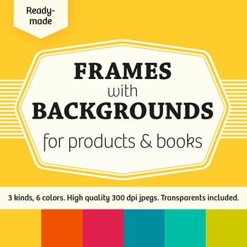 Ready-Made Frames with Backgrounds for Products & Books – Commercial