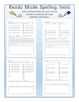 Ready Made Spelling Tests
