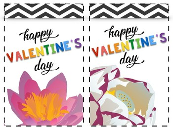 Ready-Made Valentines Day Cards: Flower Themed