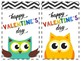 Ready-Made Valentines Day Cards: Owl Themed