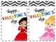 Ready-Made Valentines Day Cards: Princess Themed