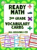 Ready Math 3rd Grade Vocabulary Cards