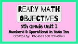Ready Math 5th Grade Unit 1 Lesson Objectives