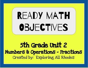 Ready Math 5th Grade Unit 2 Lesson Objectives