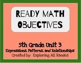 Ready Math 5th Grade Unit 3 Lesson Objectives