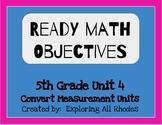 Ready Math 5th Grade Unit 4 Lesson Objectives