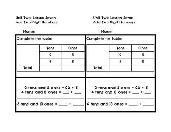 Ready Math Exit Tickets Unit 2 Second Grade