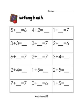 Ready Math: Fact Fluency 6s and 7s