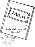 Ready Math Journal Pages Template by Units
