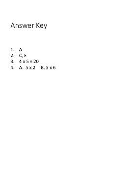 Ready Math Lesson 1 Quiz Grade 3