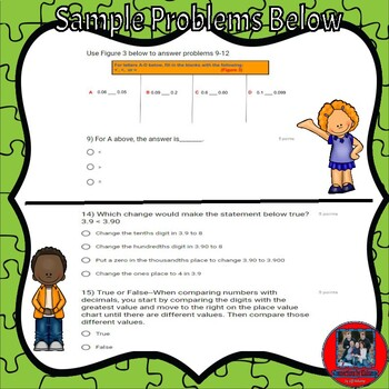 Ready Math-Lesson 4A-Practice & Problems Solving Pages on Google  Forms-Decimals