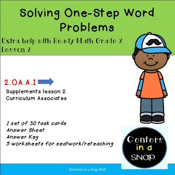 Ready Math Solve One-Step Word Problems