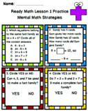 Ready Math Unit 1 Review for 2nd Grade BUNDLE