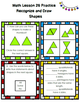 Ready Math Unit 4 Review for 2nd Grade BUNDLE