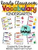 Ready Math VOCABULARY CARDS for KINDERGARTEN