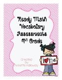 Ready Math Vocabulary Assessments 4th Grade