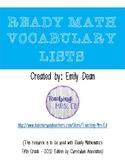 Ready Math Vocabulary List - Grade 5