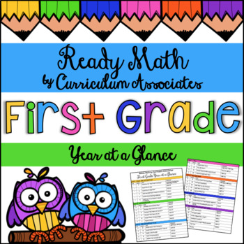 Ready Math by Curriculum Associates First Grade Year at a Glance