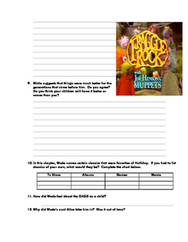 Ready Player 1: Reading Qs, Activities. The Entire Book (+teacher guide)