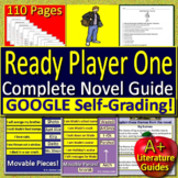 Ready Player One NOVEL STUDY Print+ SELF-GRADING GOOGLE FORMS! Distance Learning