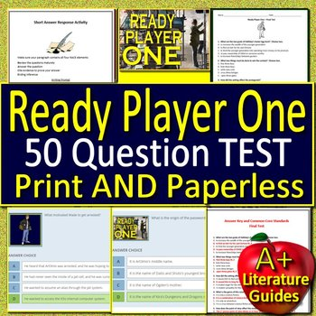 Ready Player One Test - Printable AND Self-Grading