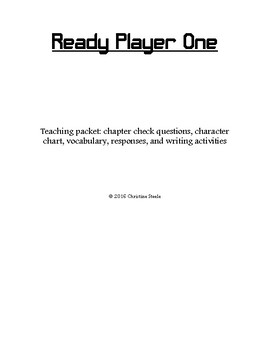 Ready Player One curriculum packet