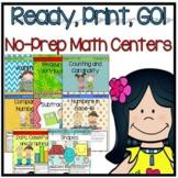 Ready, Print, GO! No Prep Math Center Bundle (Kindergarten)