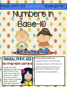 Ready, Print, GO! No-Prep Math Centers: Numbers in Base-10