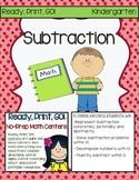 Ready, Print, GO! No-Prep Math Centers: Subtraction