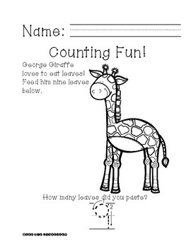 Ready, Print, Go! George Giraffe Can Count
